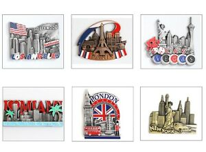 Details about Metal Fridge Magnet Souvenir - LA - London - Miami - Paris -  Europe & Others 3D