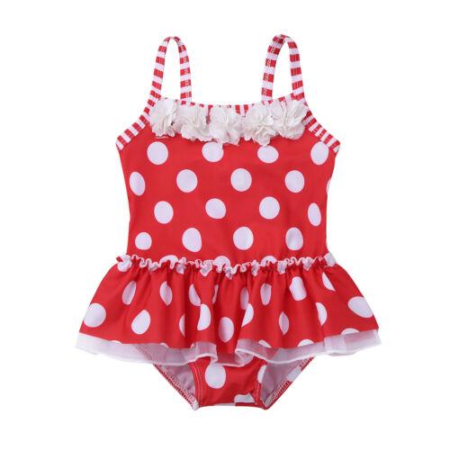 Girls Kids Baby Swimwear Swimsuit Tankini Bikini Beachwear Surfing Bathing Suit