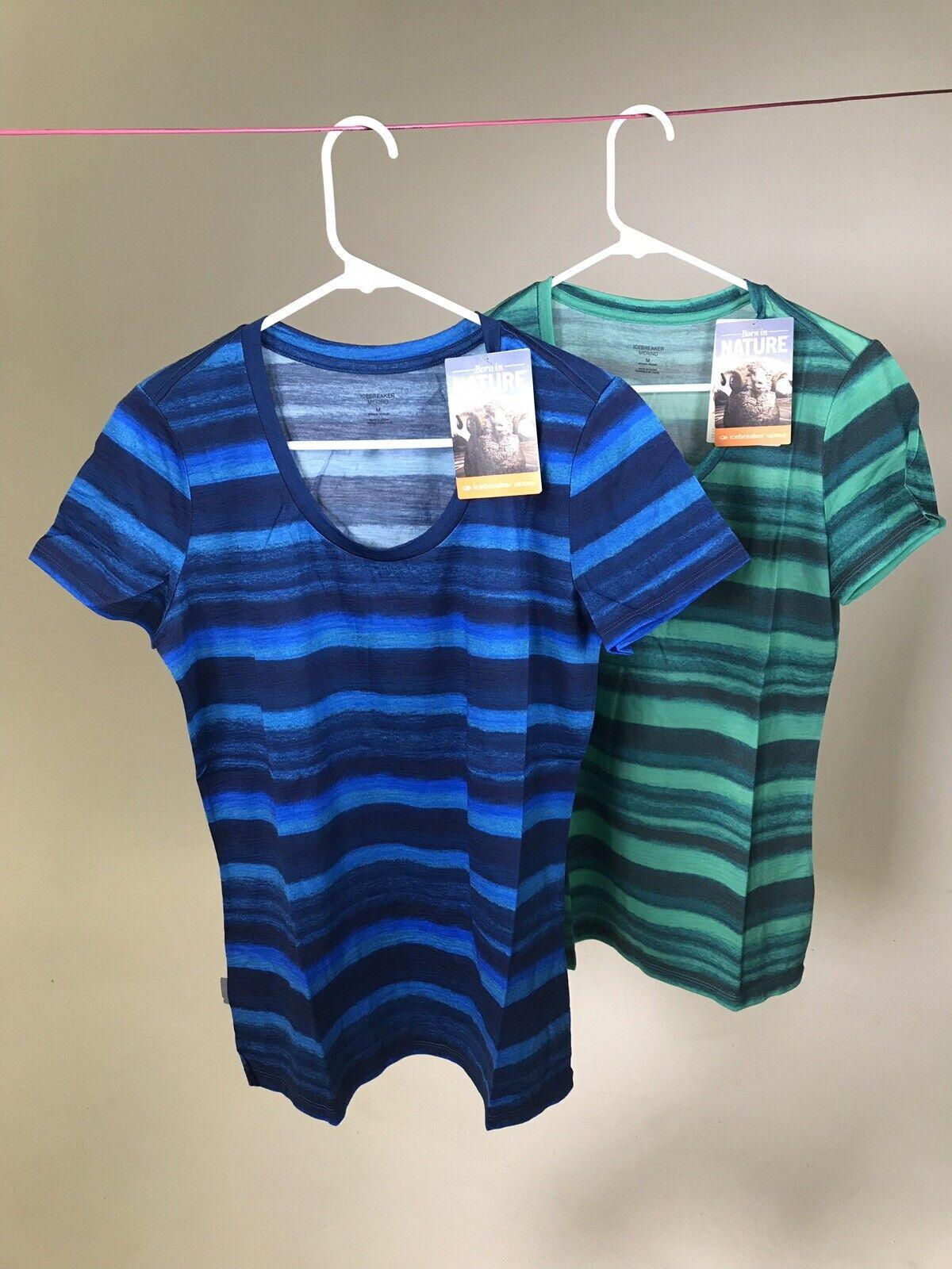 ICEBREAKER Women's Merino Wool Tech Lite Watercooler Small Medium T-Shirt - NWT