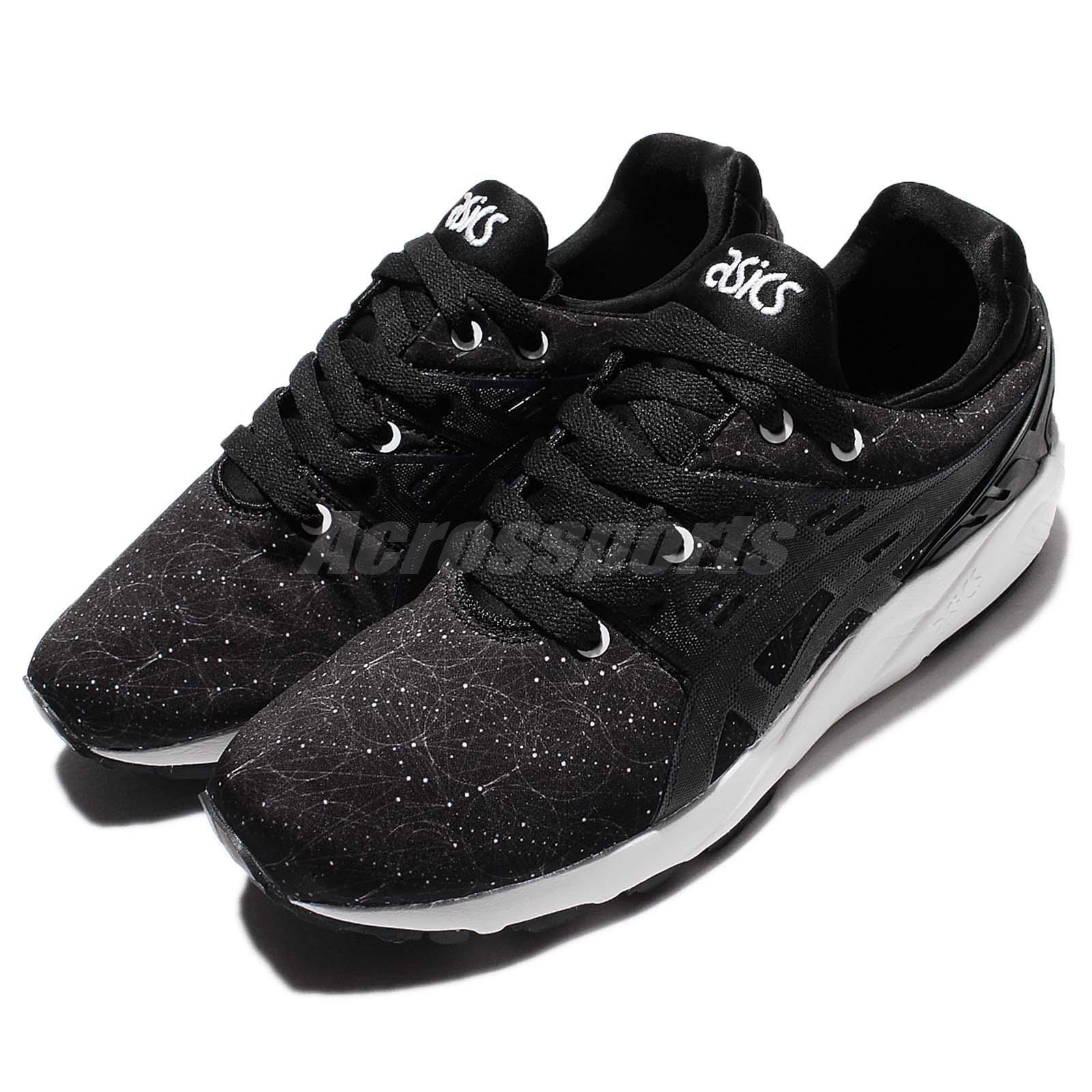 ASICS Tiger Gel-Kayano Trainer Evo negro blanco Mens Running zapatos HN6B3-9090