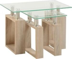 Milan-Nest-Of-Tables-in-Light-Sonoma-Oak-amp-Glass-Coffee-Table-Living-Room-Lamp