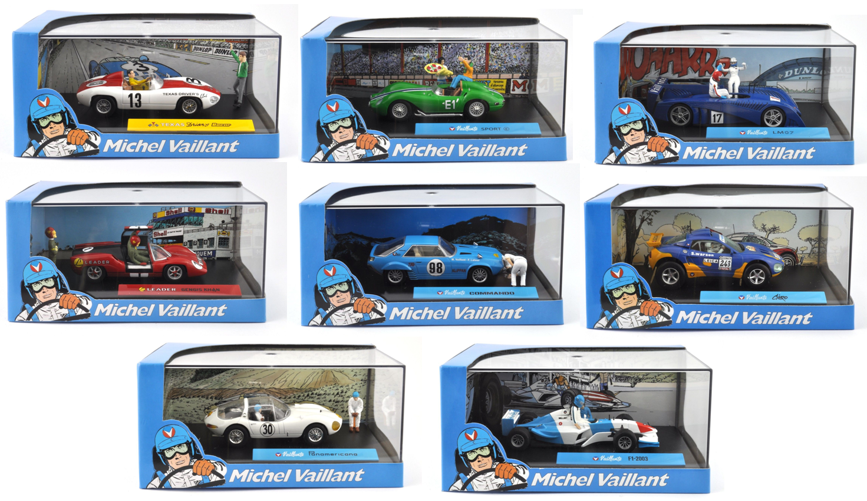SET OF 8 MODEL CARS 1 43 MICHEL VAILLANT COMIC BOOK RESIN DIORAMA - DIECAST V2