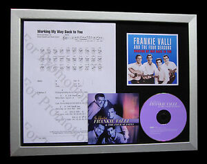 FRANKIE-VALLI-Working-Way-Back-MUSIC-CD-QUALITY-FRAMED-DISPLAY-FAST-GLOBAL-SHIP