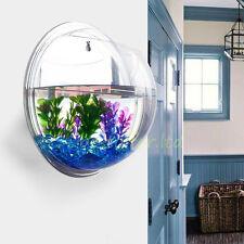 Small Wall Mounted Acrylic Fish Tank Hanging Bowl Bubble Aquarium ...