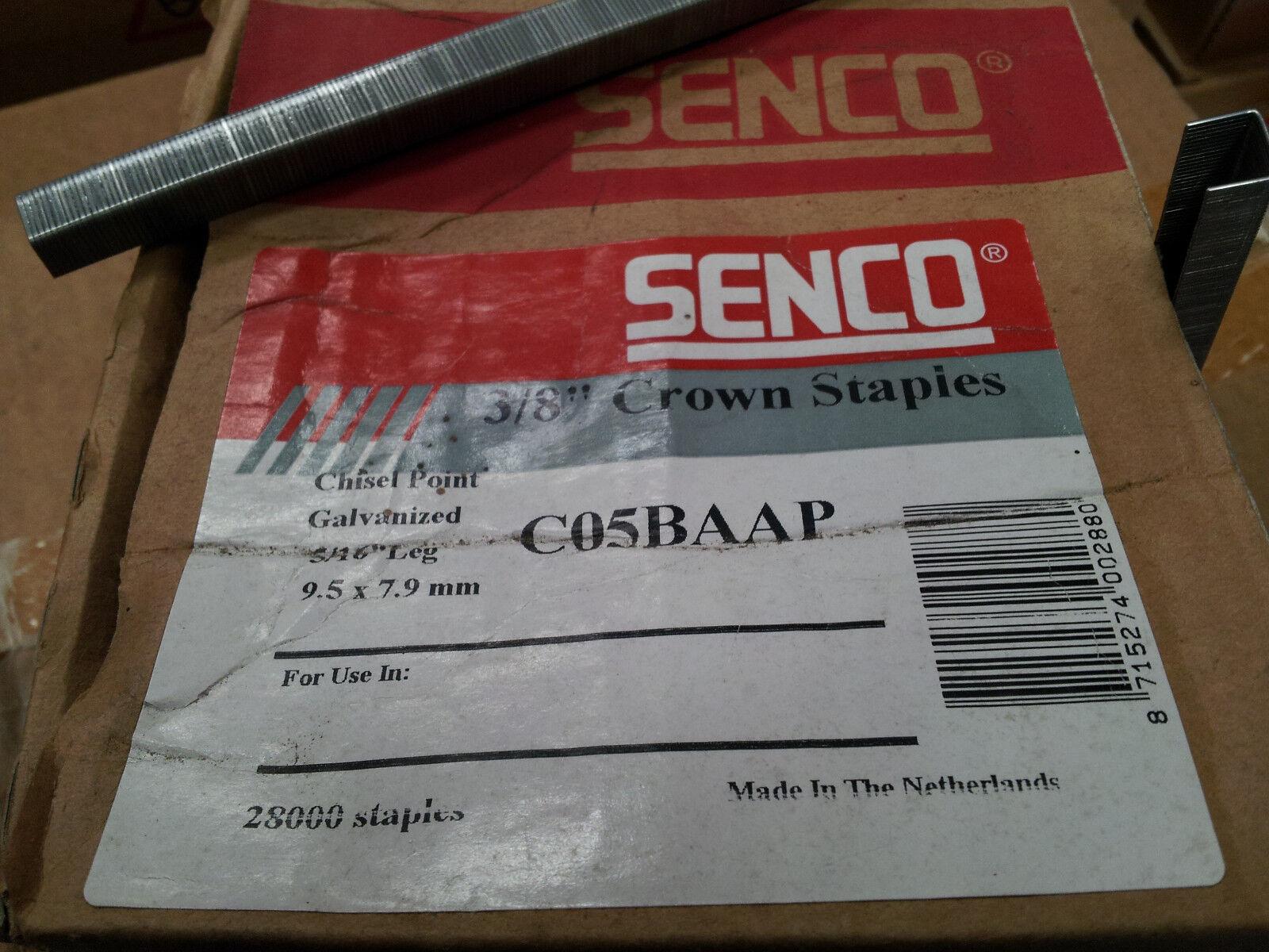 """C04BAAP C06BAAP /& C08BAAP 3//8/"""" crown upholstery staples Senco C03BAAP C05BAAP"""