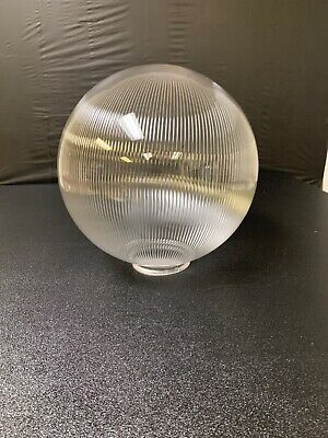 "10"" Smoked ROUND GLOBE OUTDOOR SPHERES  20010-Sm-4F  TOP 4"" Neck Fitter NEW"