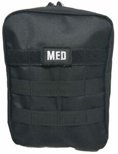 ELITE FIRST AID Tactical IFAK Kit STOCKED Survival Trauma GI Medic EDC BLACK