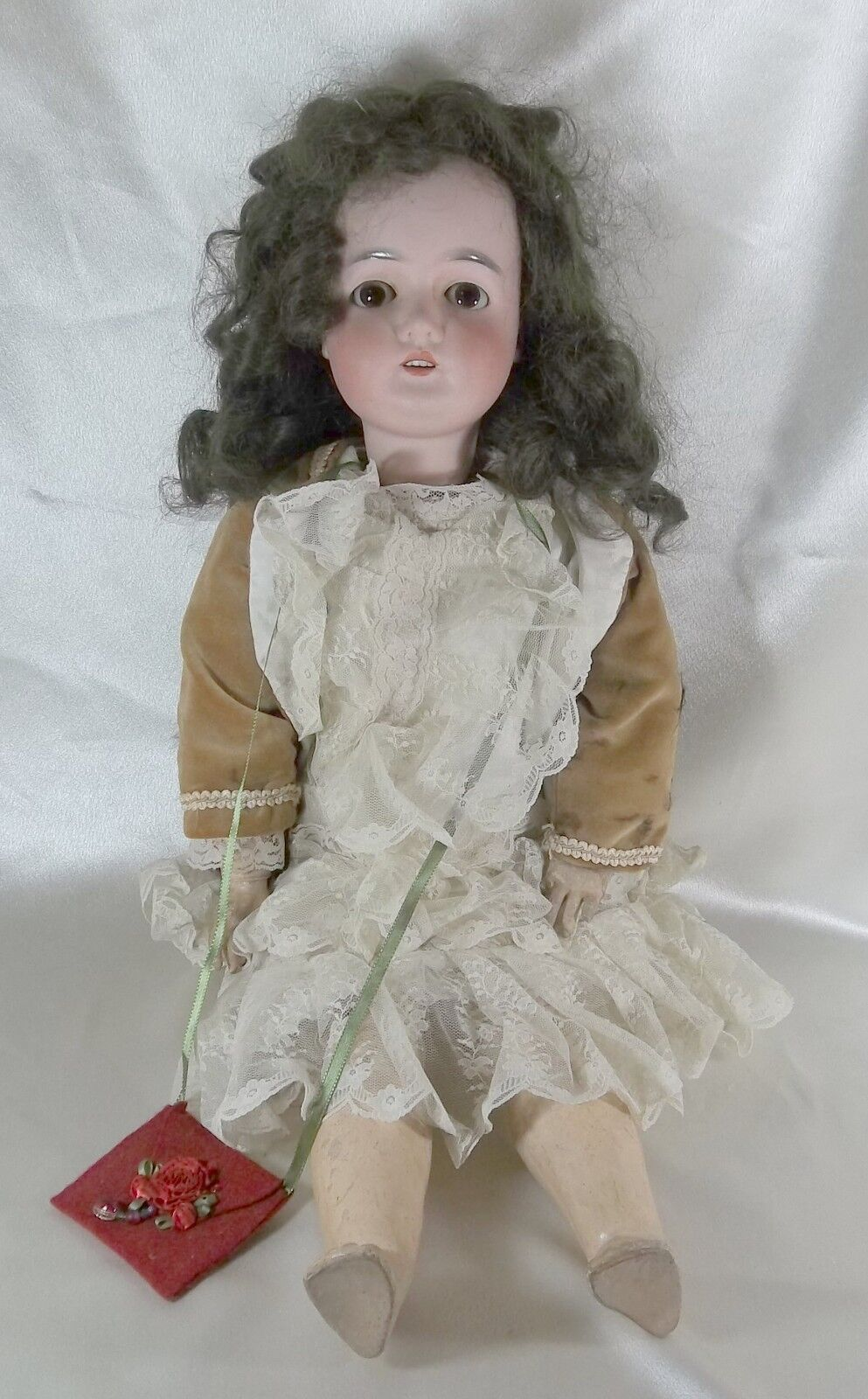 Antique Armand Marseille Queen Louise Doll Bisque & Composition 25  Ball Jointed