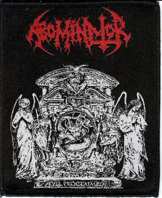Abominator  Evil Patch Nuclear War Now Cemetary Urn Death Metal Hells Headbanger