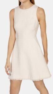 Tweed Pink Dress Millen 38 10 Office Nude Smart Shift Casual Mini Karen Dv112 twHIvqxg