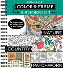 Color and Frame 3 in 1 Nature, Country, Patchwork by Publications International, Ltd. (Spiral bound, 2015)