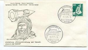 1975 Annullo Speciale Cancellation Ausstellung Weltraumforschung Udssr Munchen 2