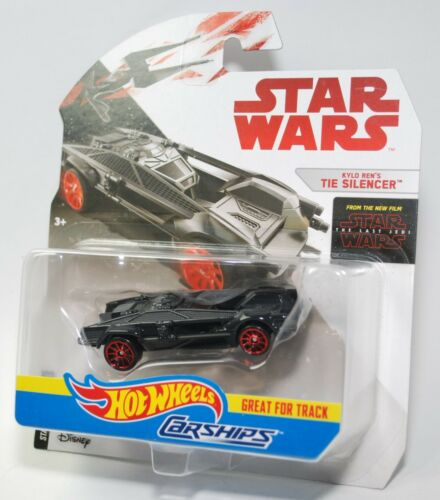 Hot Wheels Star Wars Carships KYLO REN'S TIE SILENCER Great for Tracks NEW