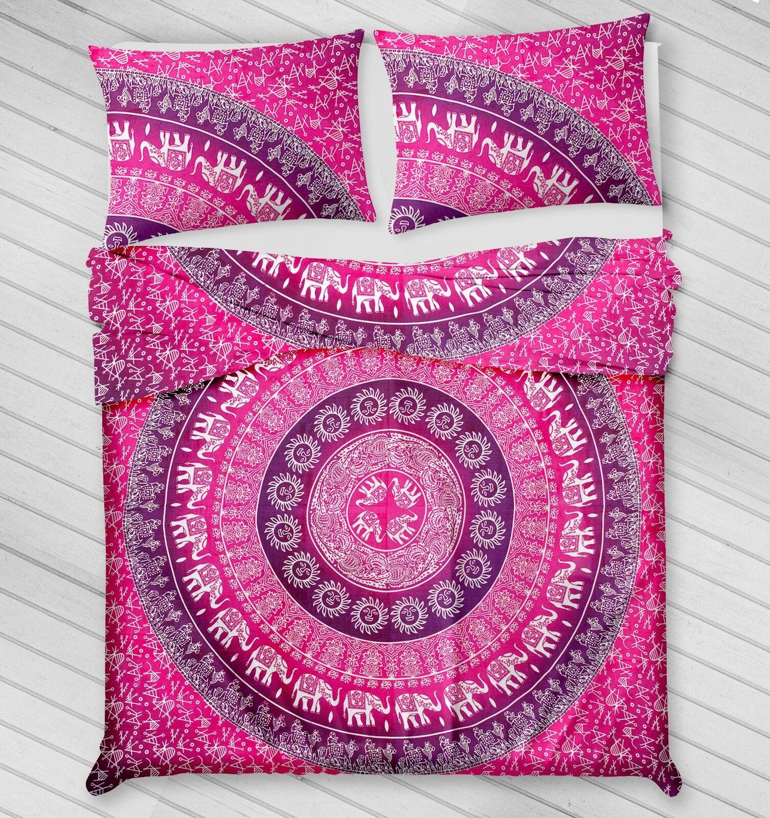 Indian Mandala Doona Bedding Blanket Duvet Cover Queen Quilt Cover Comforter Set