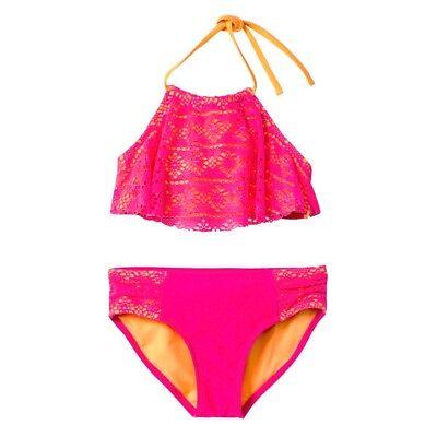 SO Pink Tribal 2-Pc.Set Tankini Top /& Bottom Swimwear Big Girls 10,14,16