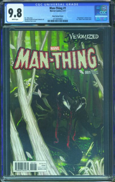 Man-Thing 1 (Marvel) CGC 9.8 White Pages Stephanie Hans Venomized Cover