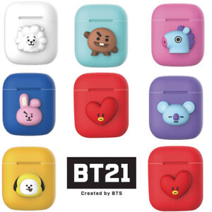 sale retailer 772b7 b5fac Details about BTS BT21 Official Authentic Goods Silicone Charging Case For  Apple Airpod
