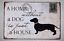Metal-Sign-Retro-Tin-Vintage-Plaques-Bar-Club-Wall-Decorative-Antiques-Dog-20-30 thumbnail 8