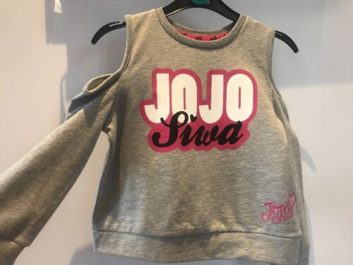 BNWT Jojo Siwa danse ajourées Sweat manger danse Sommeil Gris 8-14 ans Avail