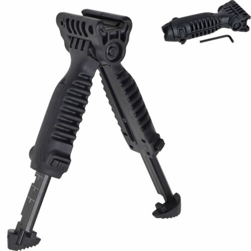 New Style Vertical Fore Hand Grip Bipod Picatinny Rail Rifle Weaver Adjustable