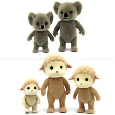Lot 5PCS Sylvanian Family Koala Sheep Family Cute Animals Figure Kid Doll Toy