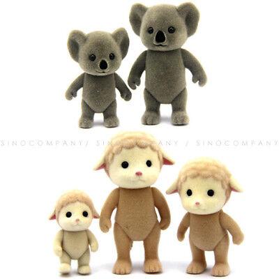 Lot 3PCS Sylvanian Families Sheep Family mom kid Koala Dollhouse Figure boy Doll