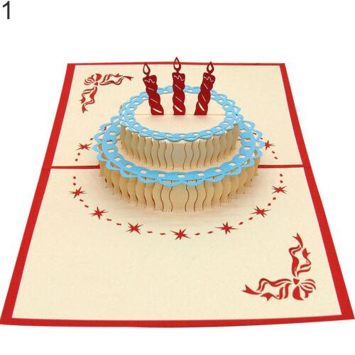 Eg /_3D Erscheinen Karte Geburtstag Hochzeitstag Weihnachten Grußkarten