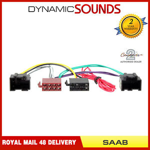 details about pc2 96 4 car iso lead stereo head unit adaptor wiring harness for saab 9 3, 9 5 Saab Stereo Wiring Adapters