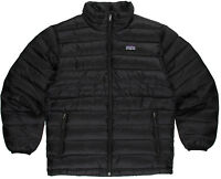 Patagonia Down Sweater Jacket Boys Black M Medium 10 With Tags $119