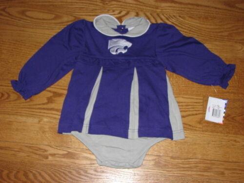 NEW Baby Girls Kansas State Wildcats Cheerleader Dress Size 24M 24 Mo Costume