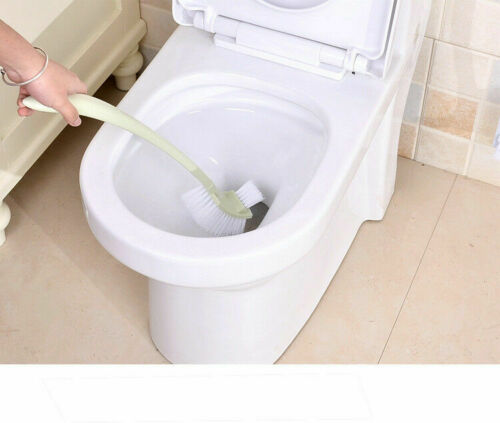 Corner Cleaning Plastic Brush No Dead End Toilet Brush Scrubber Curved Cleaner