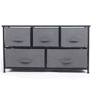 Polar-Aurora-Wide-Drawer-Dresser-Storage-Closet-with-5-Removable-Fabric-Drawers