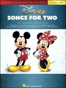 Disney Chansons Pour Deux Violons Sheet Music Book Facile Duos MÊme Jour ExpÉdition-afficher Le Titre D'origine