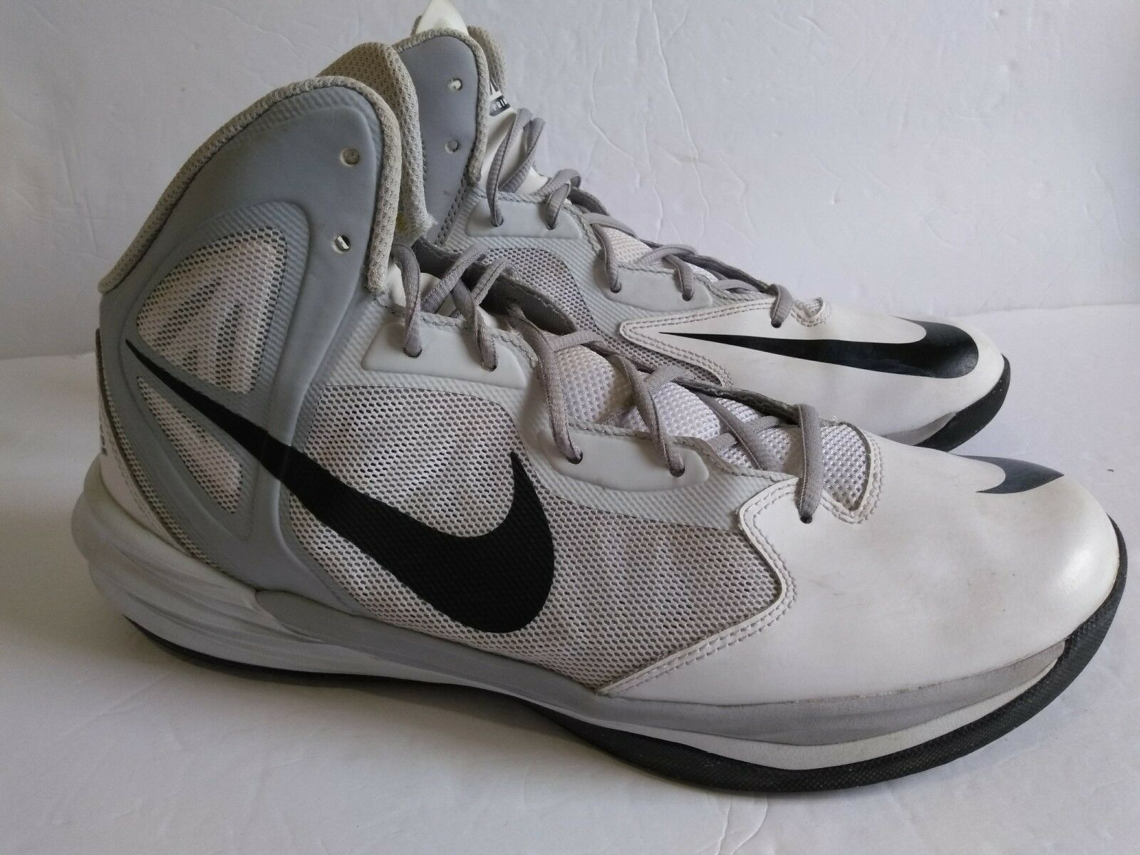 NIKE PRIME HYPE DF 683705 WHITE/BLACK  BASKETBALL SHOES SIZE 11  The latest discount shoes for men and women