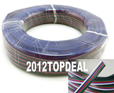 New RGB 4-Pin Extension Wire Connector Cable Cord For 3528 5050 RGB LED Strip