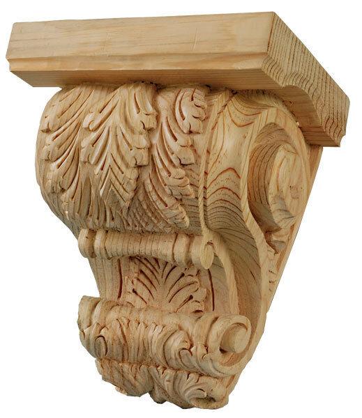 Matched Pair of Kitchen Mantel Shelf Corbels Corbels Corbels in solid pine wood,  798 74ee50
