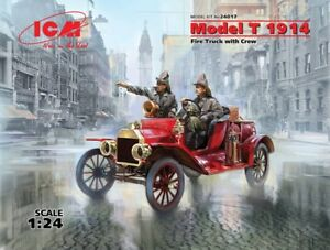 Model-T-1914-Fire-Truck-with-Crew-American-Car-plastic-model-kit-1-24-ICM-24017