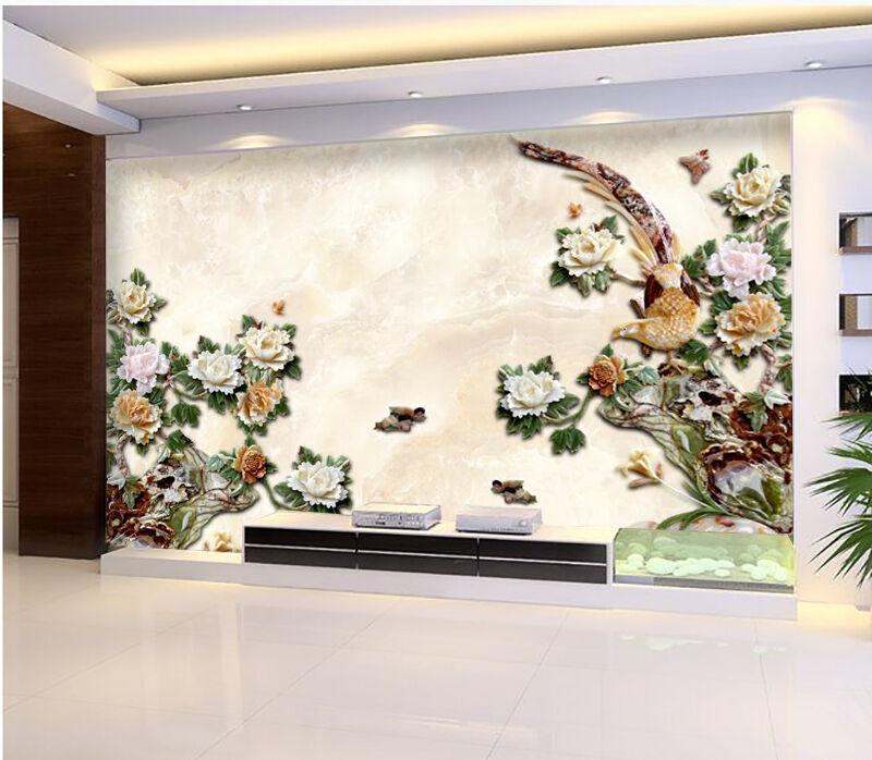 3D Feuilles Vertes..Photo Papier Peint en Autocollant Murale Plafond Chambre Art