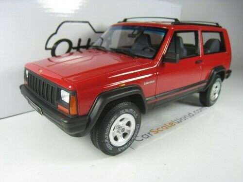 JEEP CHEROKEE SPORT 2.5 EFI 1995 1 18 OTTO MOBILE (rouge)