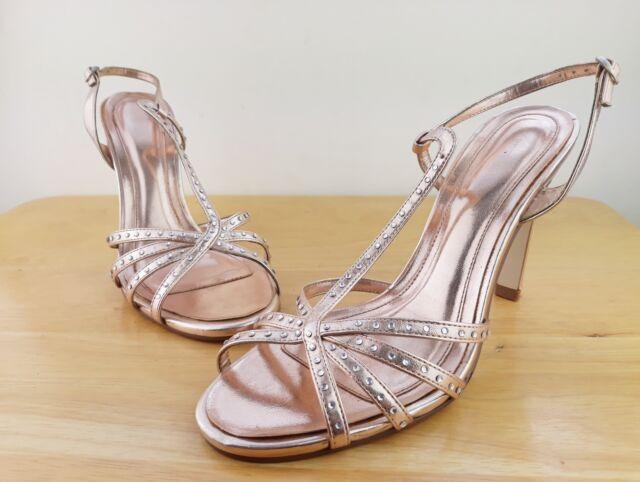 005ebb6bbcf6e Women s River Island Size 6 Gold Sandals Diamond Studs for sale online