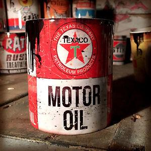 2x-Texaco-oil-can-Gift-Motorcycle-Car-Mechanic-Gift-11oz-Tea-coffee-mugs