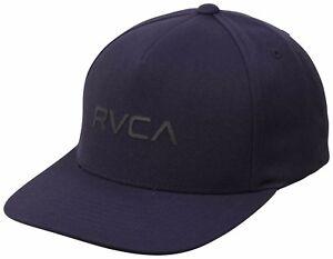 cheaper e75a5 f6631 Image is loading RVCA-Curved-Bill-Mens-Snapback-Hat-NEW-5-