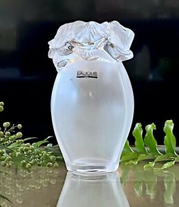 Lalique-Saint-Barth-Vase-Signed-Mint-Condition-French-Crystal-8-75-034-Tall