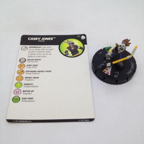 Heroclix TMNT Series 3 Shredder/'s Return set Casey Jones #011 Uncommon figure!