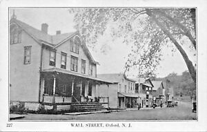 OXFORD-NEW-JERSEY-WALL-STREET-STOREFRONTS-S-K-SIMON-PUBL-POSTCARD
