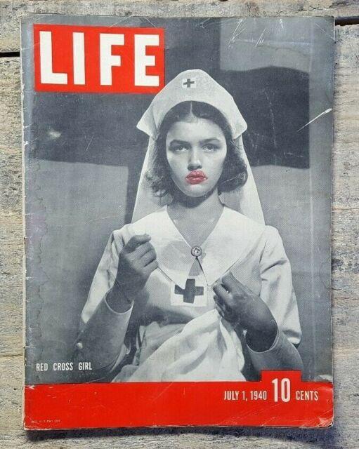 WWII July 1, 1940 Life Magazine - Red Cross, Joe Louis, defeat in France