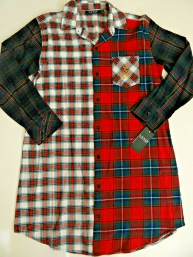 Ralph Lauren Signature Long Sleeve Plaid Sleepshirt NWT