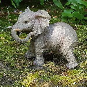 Elefant-Deko-Figur-Tierfigur-Afrika-Safari-Steppe-Dschungel-Wildlife-Elefanten