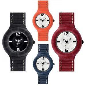 Image is loading Watch-Hip-Hop-Leather-Small-32mm-Leather-Black- f199ad0040b