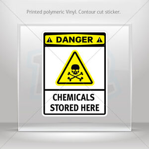 Decals Sticker Danger Hazardous Chemicals Avoid Vapors And  st5 X4437